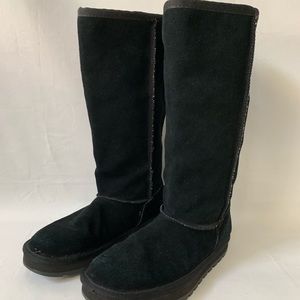 Skechers Sz 7 Black Shearling Fall/Winter Boots
